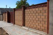 Строительство забора из кирпича или блока