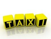Такси города Актау с  чек,  приходник,  счет-фактура.
